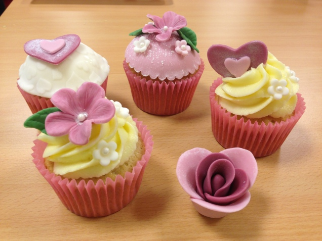 My cupcakes and rose