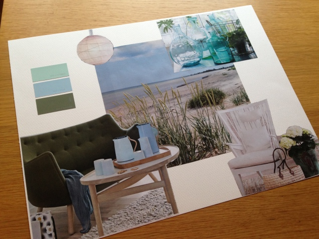 Mood board for our family room.