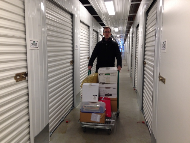 """It's quite easy to move when you have a rolling chart and """"only"""" 60 meters between the storage areas."""