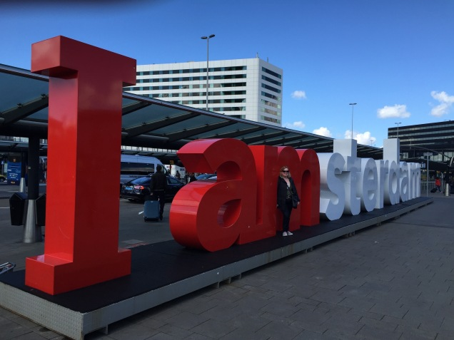 Arrived to the airport. Hello Amsterdam! :)