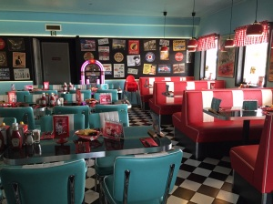 In the middle of nowhere an 1950's styled American diner is located